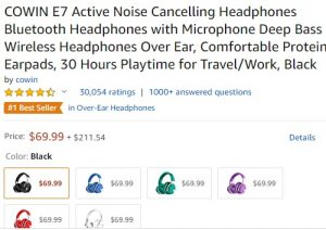 COWIN E7 Best Headset